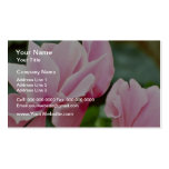 Pink Upside-Down Flowers flowers Business Card Templates
