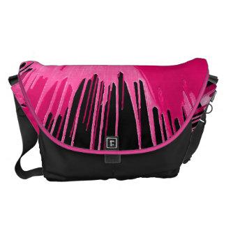 Pink Urban Splash. Courier Bag