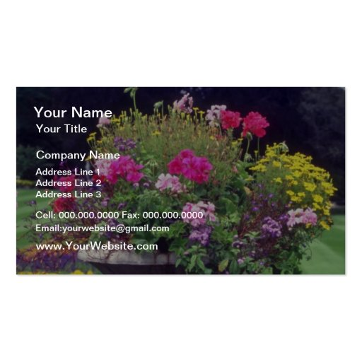 Pink Urn and flowers, Victoria flowers Double-Sided Standard Business Cards (Pack Of 100)