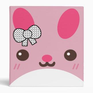 Pink Usagi Bunny Rabbit 3 Ring Binder