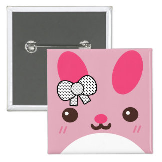 Pink Usagi Bunny Rabbit Button
