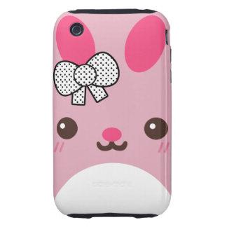 Pink Usagi Bunny Rabbit Tough iPhone 3 Cover