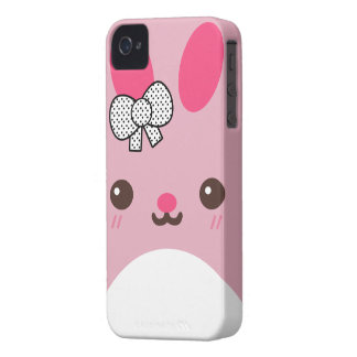 Pink Usagi Bunny Rabbit iPhone 4 Case-Mate Case