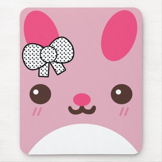 Pink Usagi Bunny Rabbit Mouse Pad