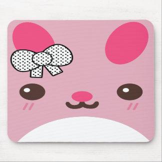 Pink Usagi Bunny Rabbit Mousepads