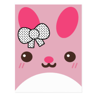 Pink Usagi Bunny Rabbit Postcard