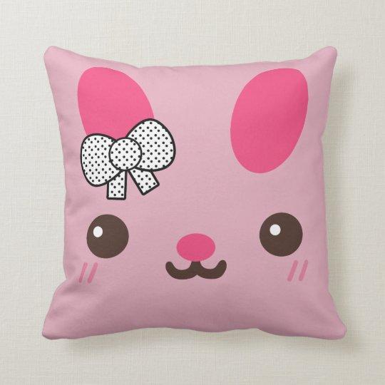 Pink Usagi Bunny Rabbit Throw Pillow