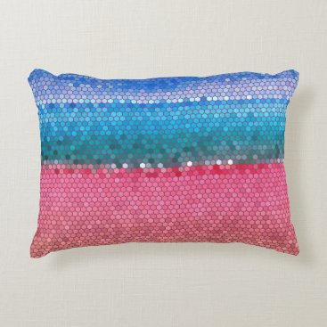 Beach Themed Pink Vacation Decorative Pillow