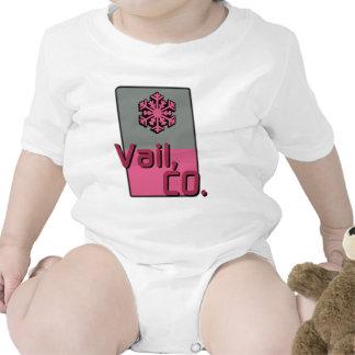 Pink Vail Colorado Baby Creeper