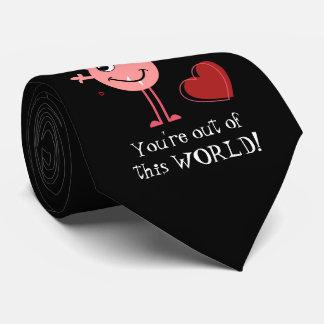 Pink Valentine Alien Monster Tie