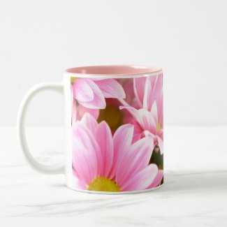 Pink Valentine Blossom Flower Mug mug