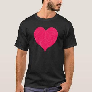 Pink Valentine Heart Leaf T-Shirt