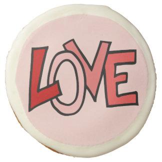 Pink Valentine Love Sugar Cookie