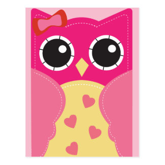 Pink Valentine Owl Classroom Cards for Kids