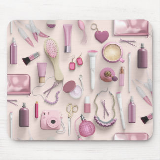 Pink Vanity Table Mouse Pad