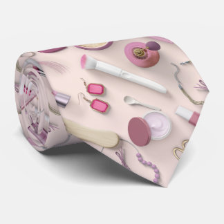 Pink Vanity Table Neck Tie