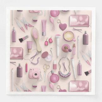 Pink Vanity Table Paper Dinner Napkin