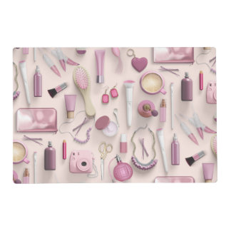 Pink Vanity Table Placemat