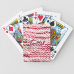 Pink Variegated Knitter Bicycle Playing Cards