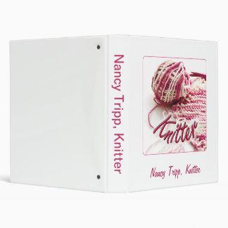 Pink Variegated Knitter Vinyl Binders