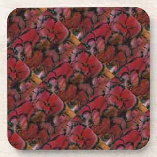 """""""Pink Vase Detail Tiled"""" Floral Coaster Set"""
