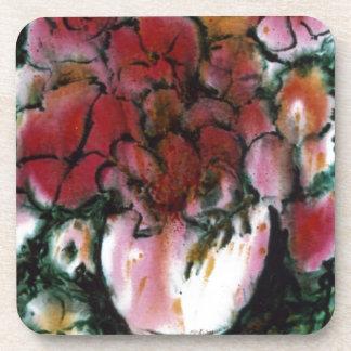 """""""Pink Vase"""" Floral Coaster Set"""