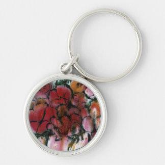"""""""Pink Vase"""" Floral Keychain"""