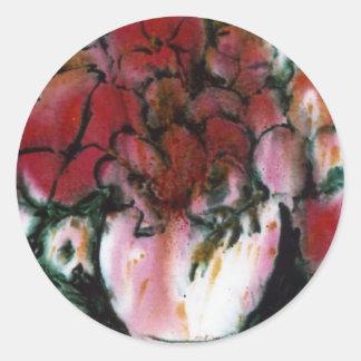 """""""Pink Vase"""" Floral Sticker"""