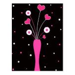 Pink vase - Postcard