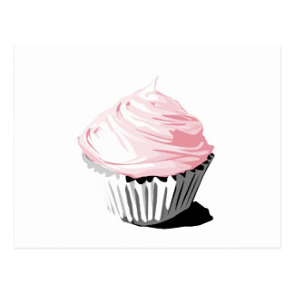 Pink vector cupcake template products postcard