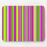 Pink Vector Stripes Mouse Pad
