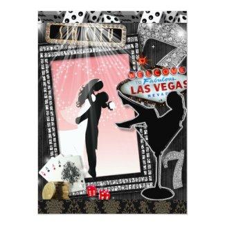 Pink Vegas Wedding Invites