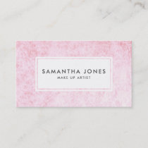 Pink Velvet Texture Modern Make Up Artist Business Card