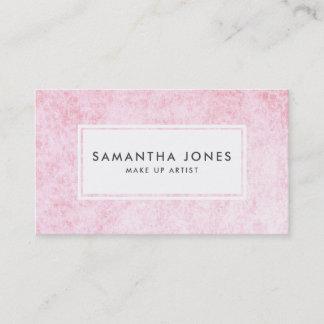 Pink Velvet Texture Modern Make Up Artist Business Card