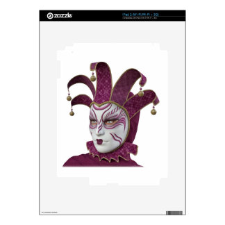 Pink Venetian Carnivale Mask in Profile Decal For iPad 2