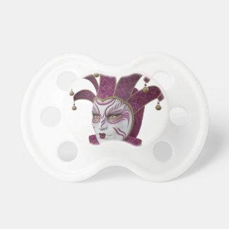 Pink Venetian Carnivale Mask in Profile Pacifier