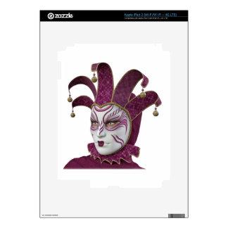 Pink Venetian Carnivale Mask in Profile Skin For iPad 3
