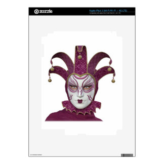 Pink Venetian Carnivale Mask iPad 3 Skin
