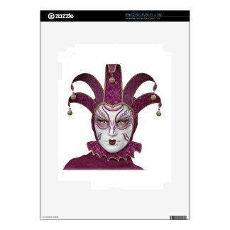 Pink Venetian Carnivale Mask Skin For The iPad 2