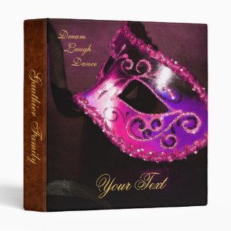 Pink Venetian Masquerade Halloween Binder