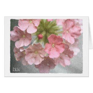 Pink Verbena/Floral Art/Watercolor Look