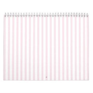 Pink Vertical Stripe Wall Calendar