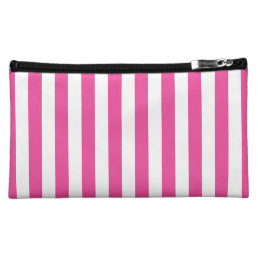 Pink Vertical Stripes Makeup Bag