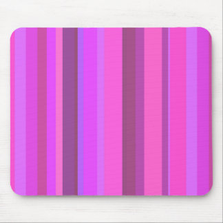 Pink vertical stripes mouse pad