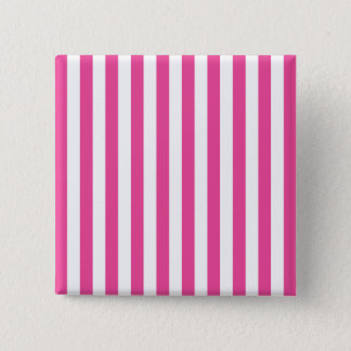 Pink Vertical Stripes Pinback Button