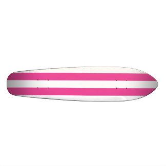 Pink Vertical Stripes Skateboard