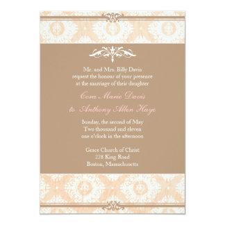 Pink Victoria Damask Wedding Invitation