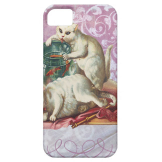 Pink Victorian Cats Fish Bowl iPhone SE/5/5s Case