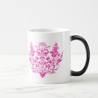 Pink Victorian Damask Mug