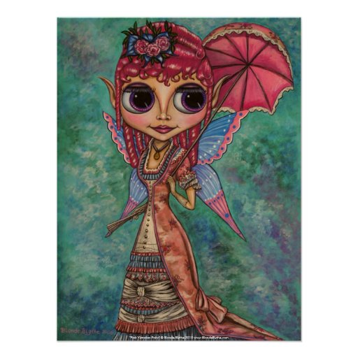 Pink Victorian Fairy Poster